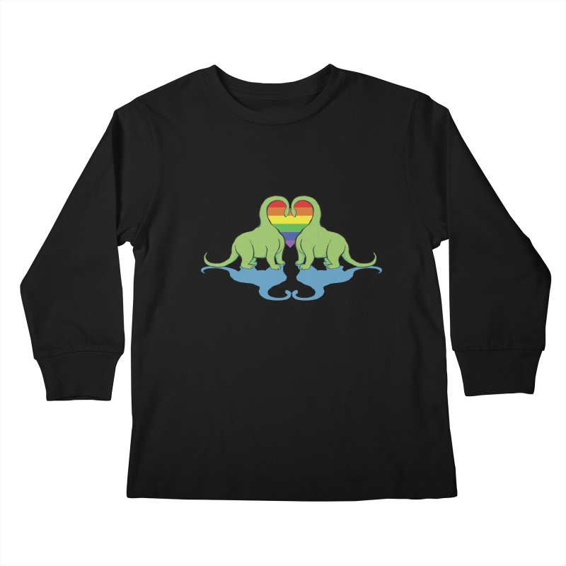 Gay Pride - Dino Love Kids Longsleeve T-Shirt by alrkeaton's Artist Shop