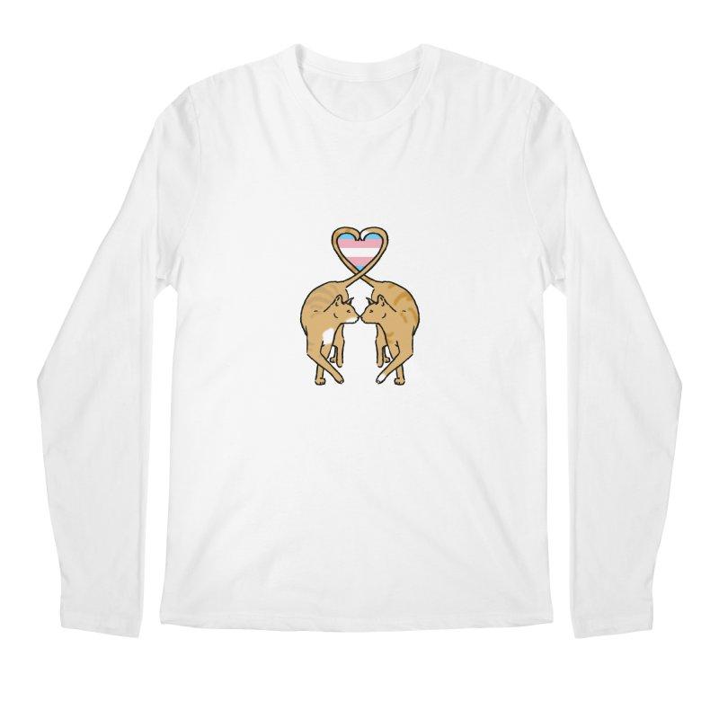 Trans Pride - Love Cats Men's Longsleeve T-Shirt by alrkeaton's Artist Shop