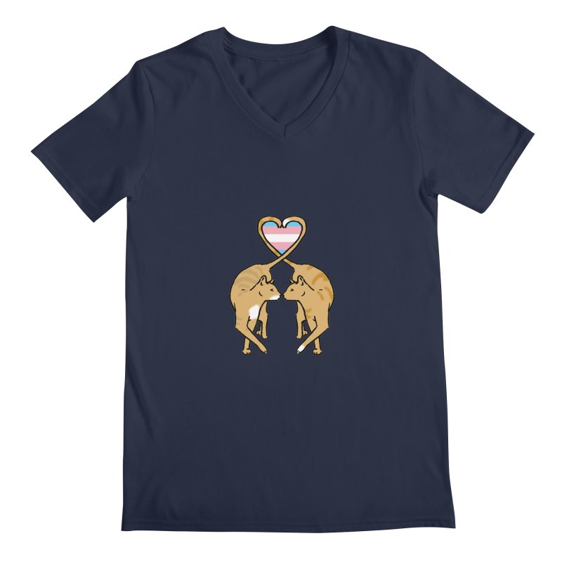 Trans Pride - Love Cats Men's Regular V-Neck by alrkeaton's Artist Shop