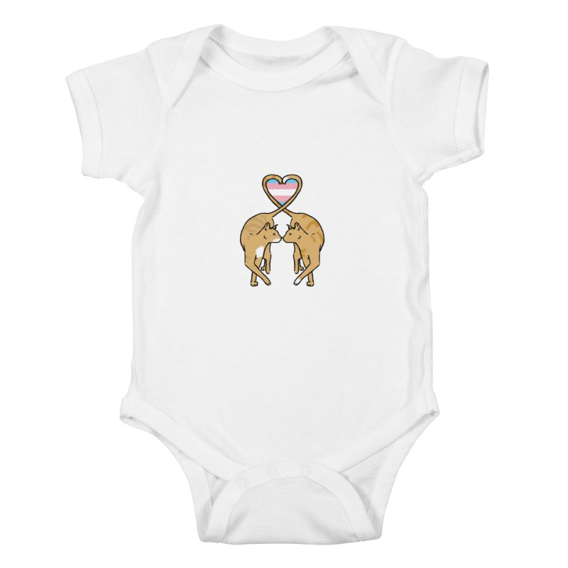 Trans Pride - Love Cats Kids Baby Bodysuit by alrkeaton's Artist Shop