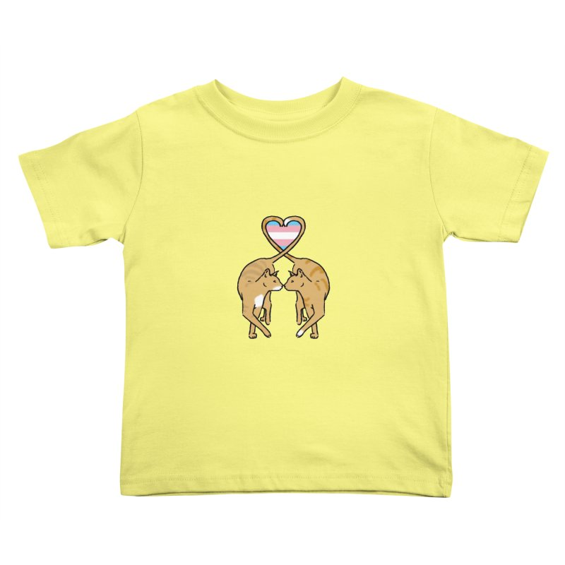 Trans Pride - Love Cats Kids Toddler T-Shirt by alrkeaton's Artist Shop