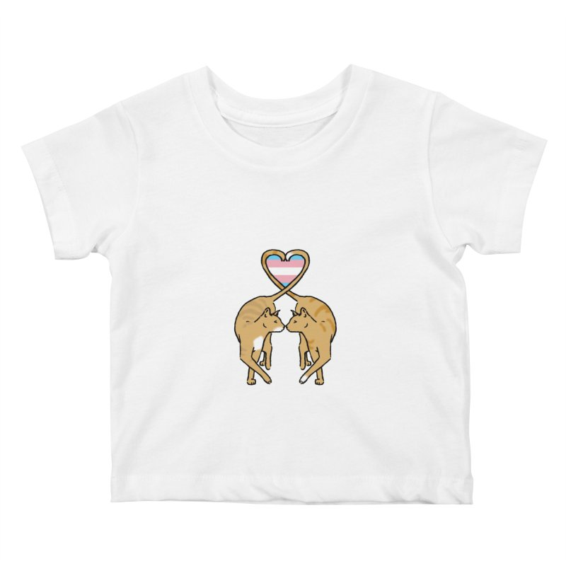 Trans Pride - Love Cats Kids Baby T-Shirt by alrkeaton's Artist Shop