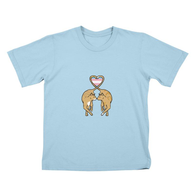Trans Pride - Love Cats Kids T-Shirt by alrkeaton's Artist Shop