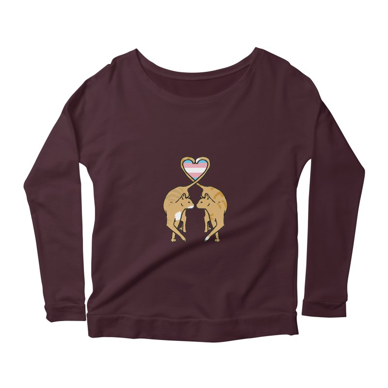 Trans Pride - Love Cats Women's Scoop Neck Longsleeve T-Shirt by alrkeaton's Artist Shop
