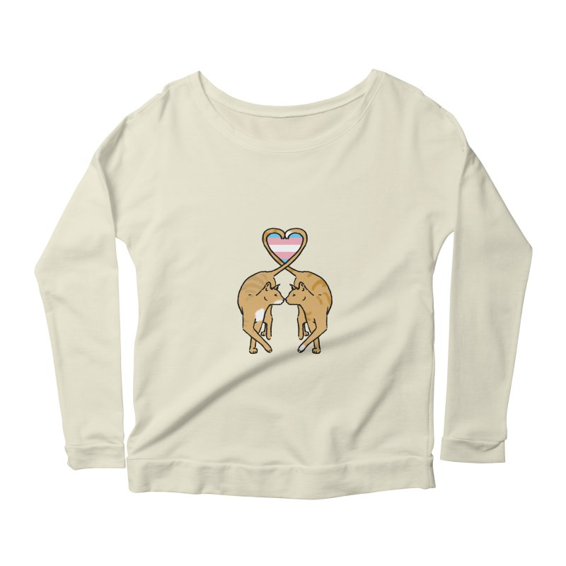 Trans Pride - Love Cats Women's Scoop Neck Longsleeve T-Shirt by alrkeaton's Artist Shop