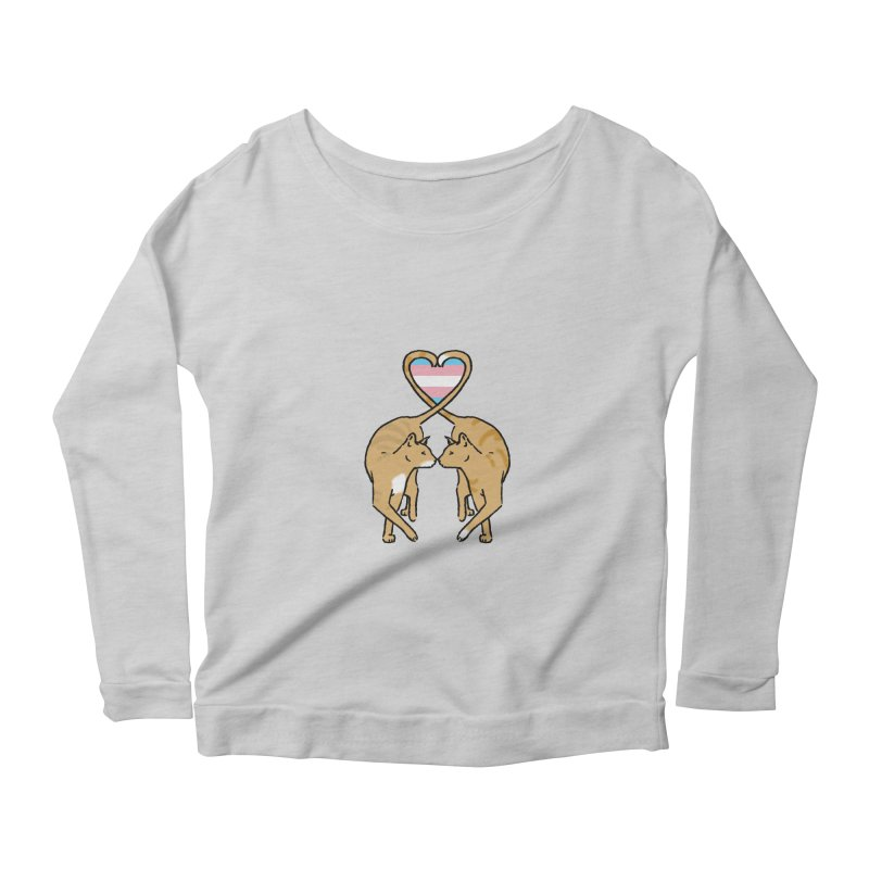 Trans Pride - Love Cats Women's Longsleeve Scoopneck  by alrkeaton's Artist Shop