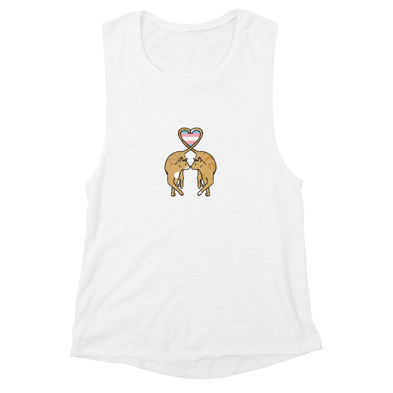 Trans Pride - Love Cats Women's Muscle Tank by alrkeaton's Artist Shop