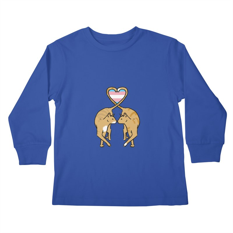 Trans Pride - Love Cats Kids Longsleeve T-Shirt by alrkeaton's Artist Shop