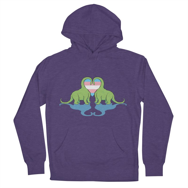 Trans Pride - Dino Love Women's Pullover Hoody by alrkeaton's Artist Shop
