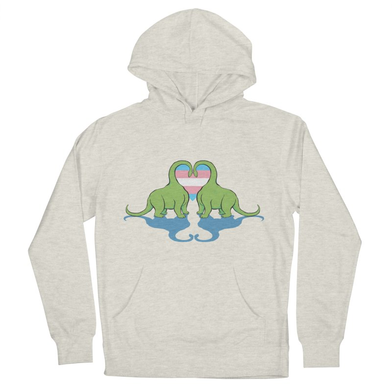 Trans Pride - Dino Love Women's French Terry Pullover Hoody by alrkeaton's Artist Shop