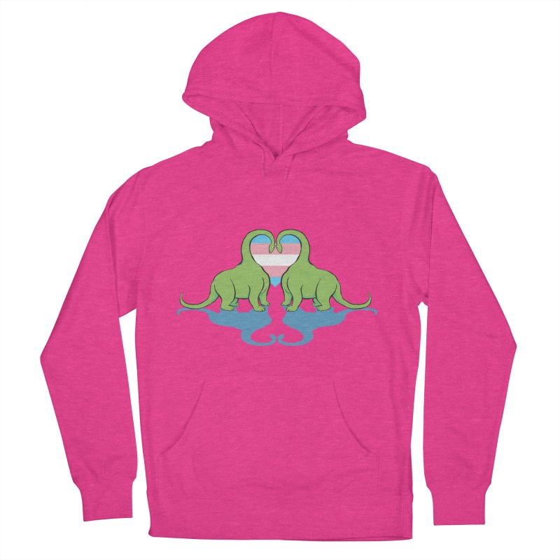 Trans Pride - Dino Love Men's Pullover Hoody by alrkeaton's Artist Shop