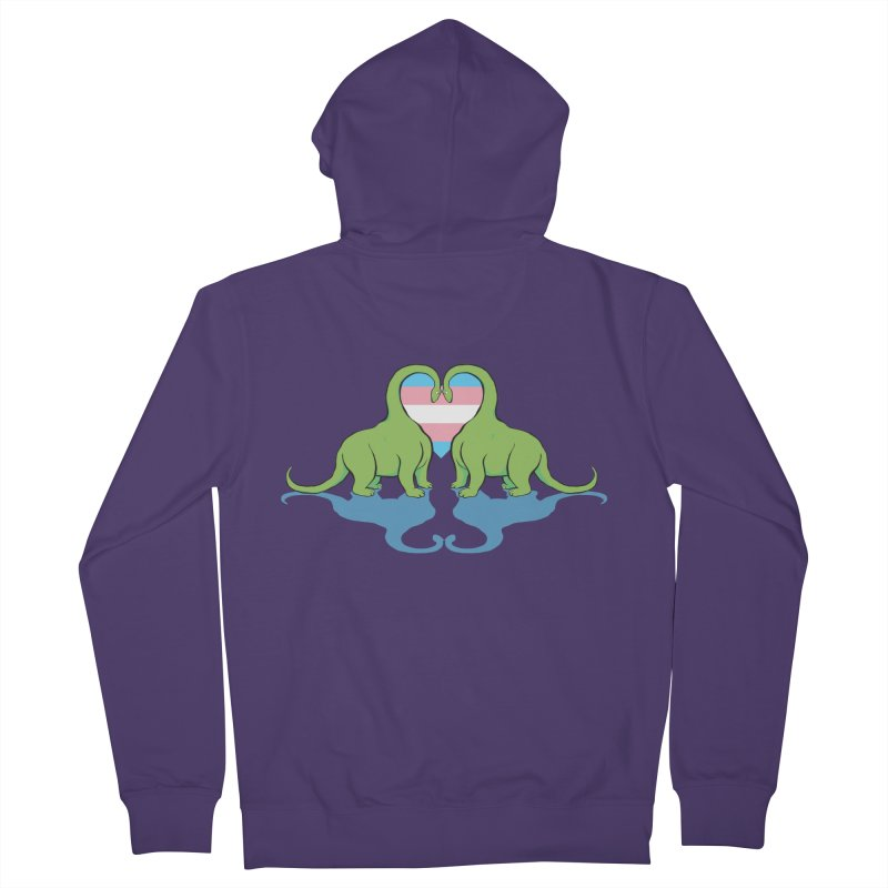 Trans Pride - Dino Love Women's French Terry Zip-Up Hoody by alrkeaton's Artist Shop