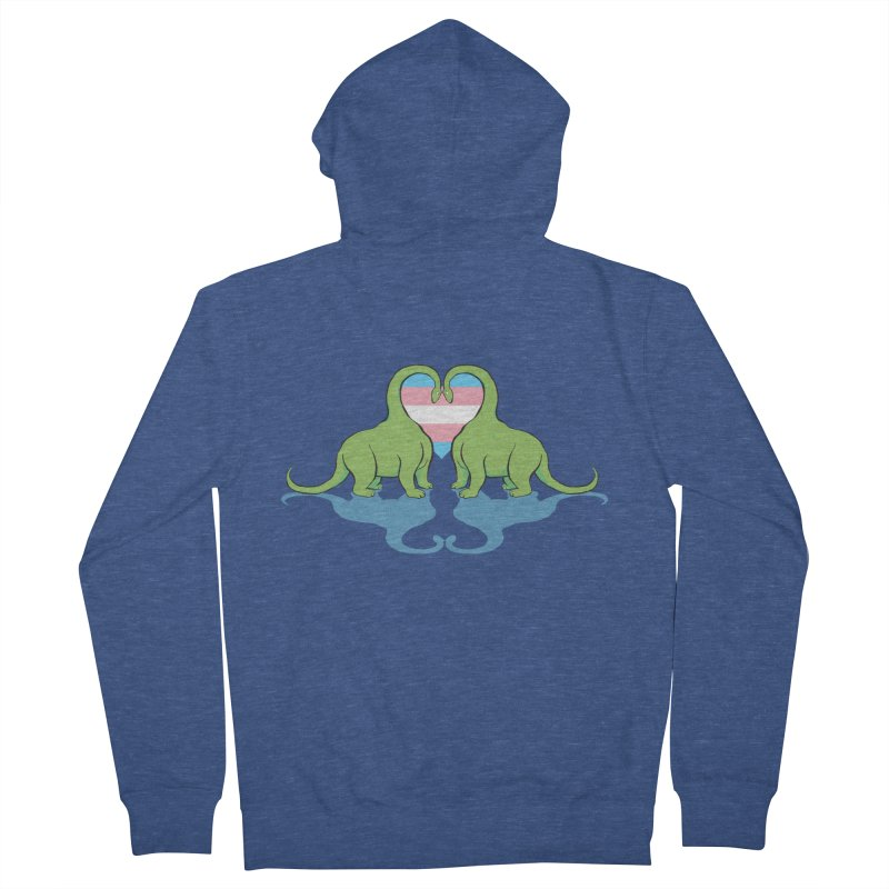 Trans Pride - Dino Love Men's French Terry Zip-Up Hoody by alrkeaton's Artist Shop