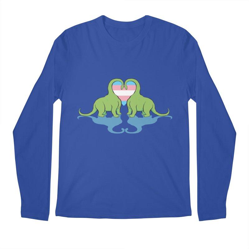 Trans Pride - Dino Love Men's Regular Longsleeve T-Shirt by alrkeaton's Artist Shop