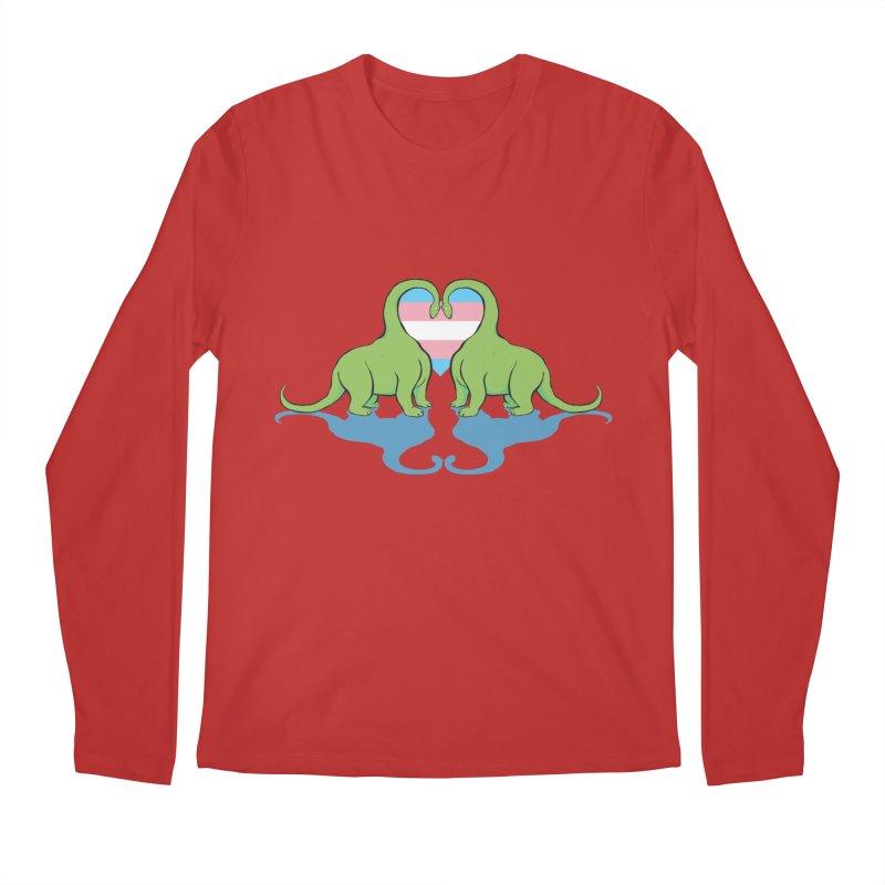 Trans Pride - Dino Love Men's Longsleeve T-Shirt by alrkeaton's Artist Shop