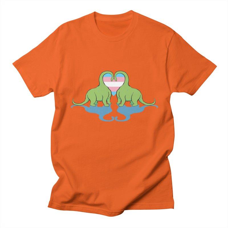 Trans Pride - Dino Love Men's T-Shirt by alrkeaton's Artist Shop