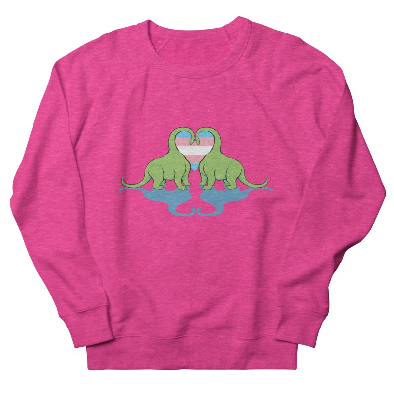Trans Pride - Dino Love Women's French Terry Sweatshirt by alrkeaton's Artist Shop