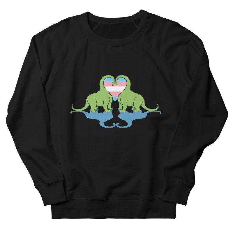 Trans Pride - Dino Love Women's Sweatshirt by alrkeaton's Artist Shop