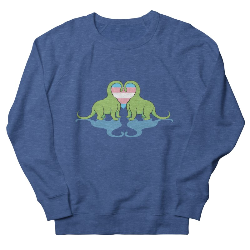 Trans Pride - Dino Love Men's Sweatshirt by alrkeaton's Artist Shop