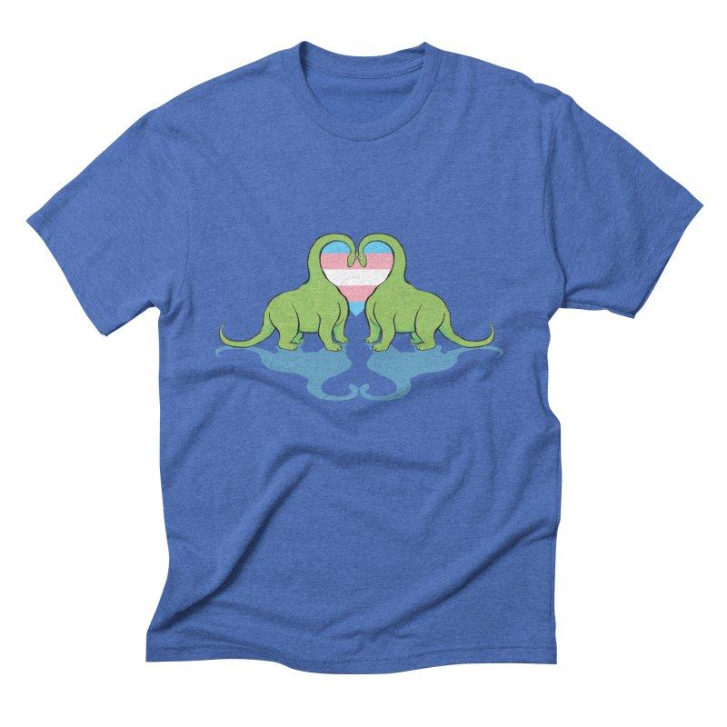 Trans Pride - Dino Love Men's Triblend T-Shirt by alrkeaton's Artist Shop