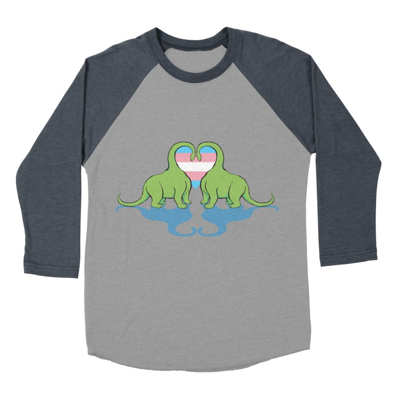 Trans Pride - Dino Love Women's Baseball Triblend Longsleeve T-Shirt by alrkeaton's Artist Shop