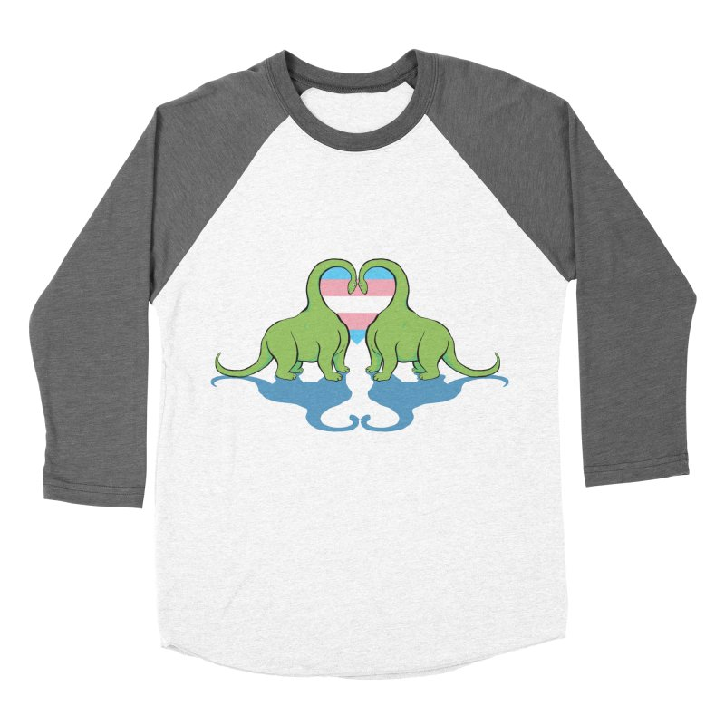 Trans Pride - Dino Love Men's Baseball Triblend Longsleeve T-Shirt by alrkeaton's Artist Shop