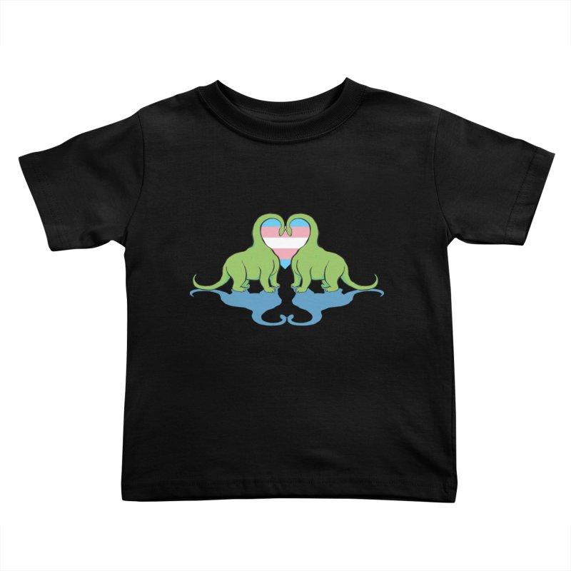 Trans Pride - Dino Love Kids Toddler T-Shirt by alrkeaton's Artist Shop