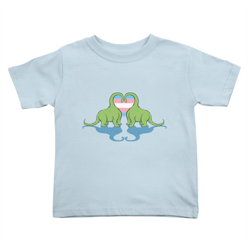 Trans Pride - Dino Love Kids Toddler T-Shirt by alrkeaton's Artist Shop