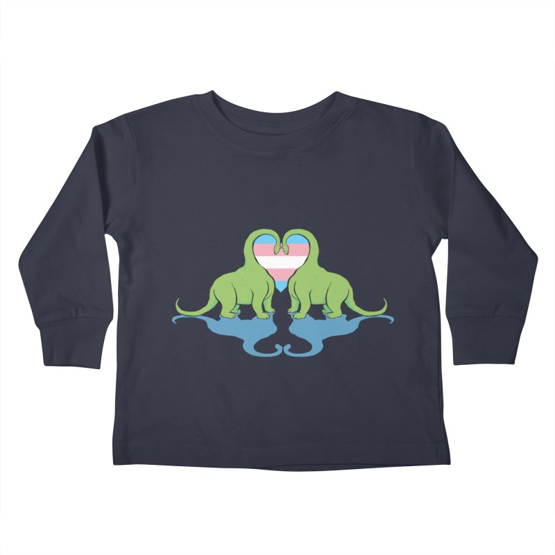 Trans Pride - Dino Love Kids Toddler Longsleeve T-Shirt by alrkeaton's Artist Shop