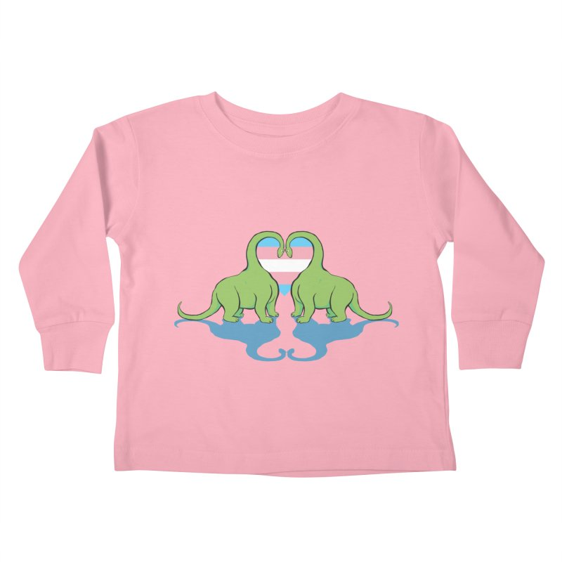 Trans Pride - Dino Love Kids Toddler Longsleeve T-Shirt by alrkeaton's Artist Shop
