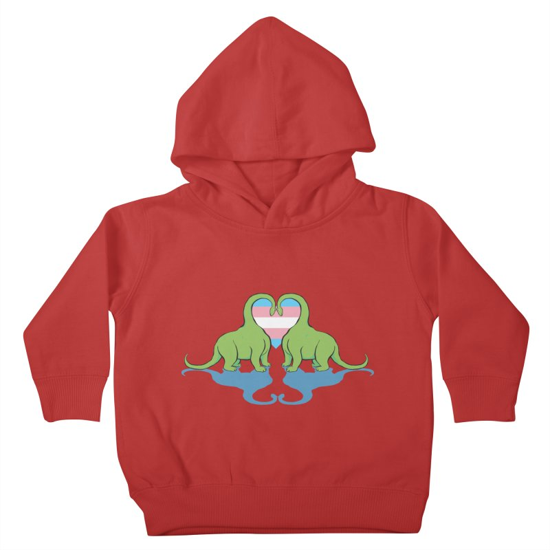 Trans Pride - Dino Love Kids Toddler Pullover Hoody by alrkeaton's Artist Shop