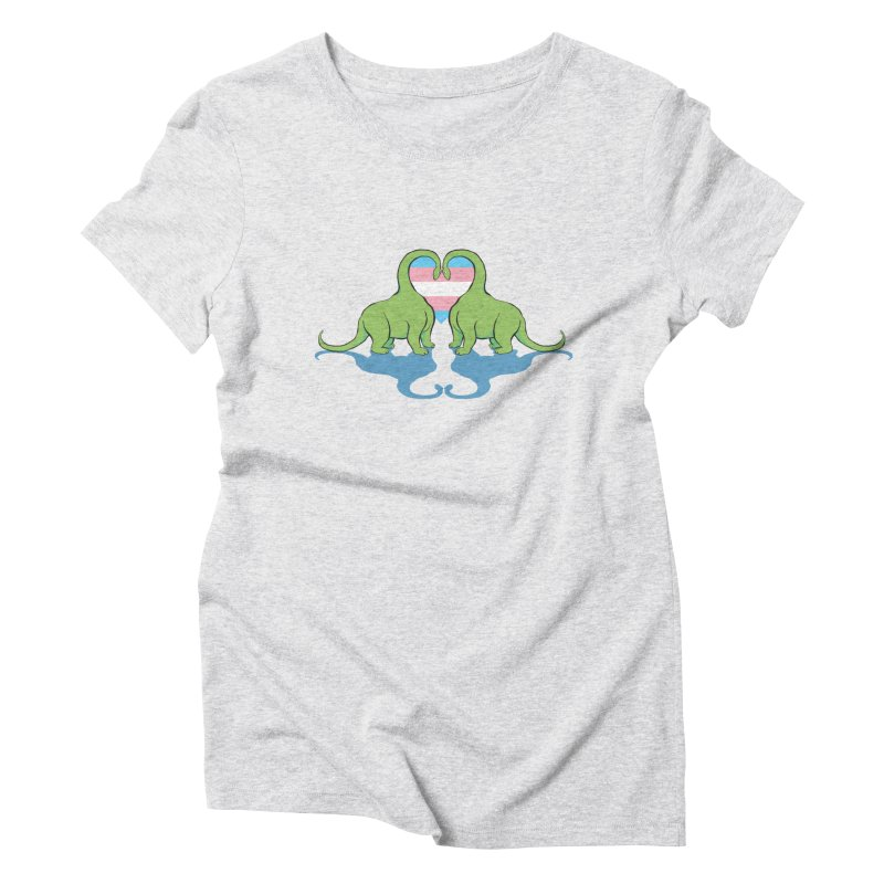 Trans Pride - Dino Love Women's Triblend T-Shirt by alrkeaton's Artist Shop