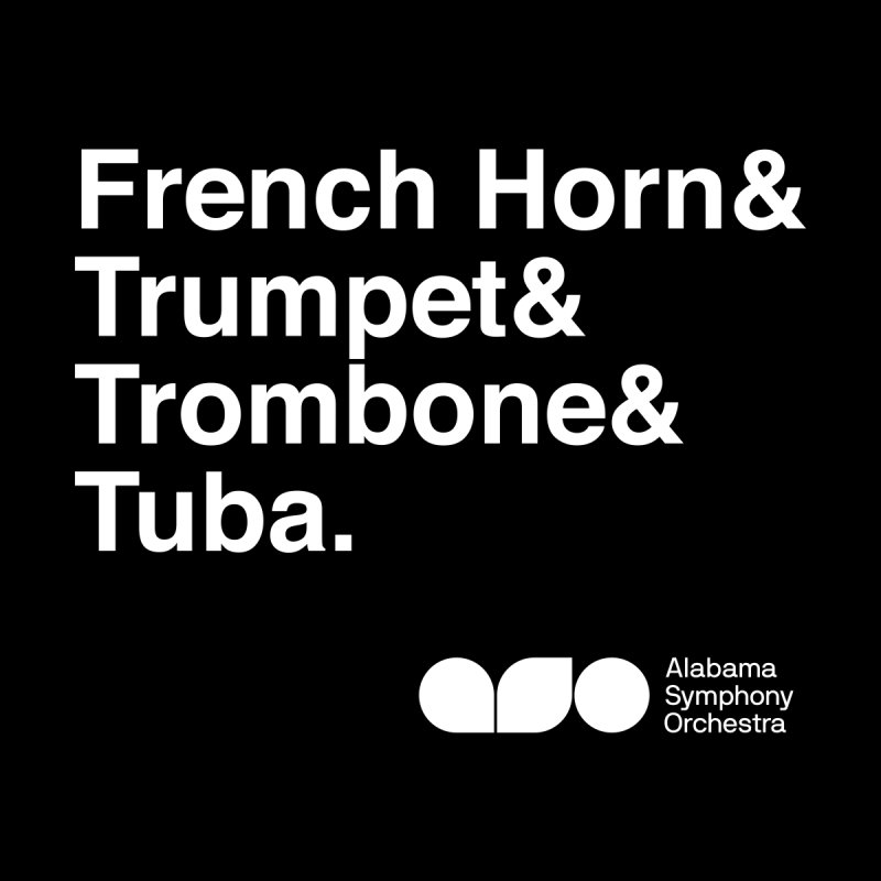 Brass Helvetica Tee Women's T-Shirt by Alabama Symphony Orchestra Goods & Apparel