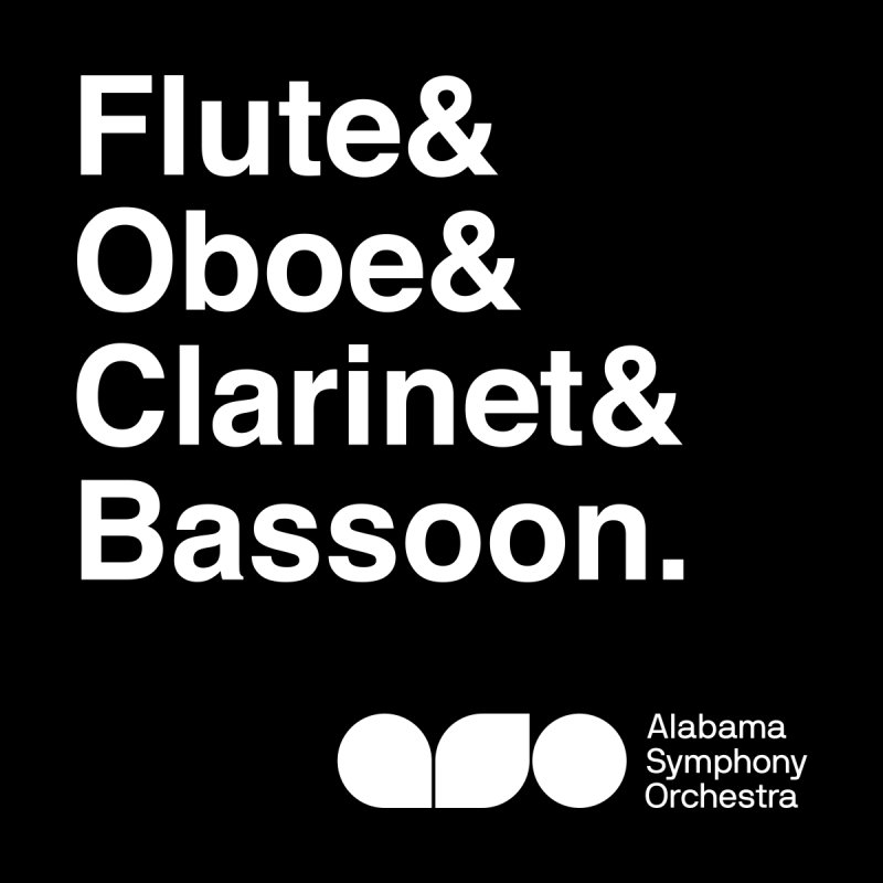 Winds Helvetica Tee by Alabama Symphony Orchestra Goods & Apparel