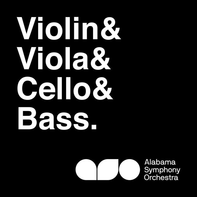 Strings Helvetica Tee Men's T-Shirt by Alabama Symphony Orchestra Goods & Apparel