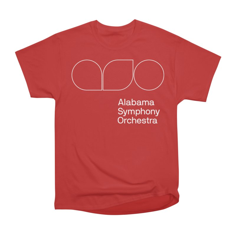White Outline Men's T-Shirt by Alabama Symphony Orchestra Goods & Apparel
