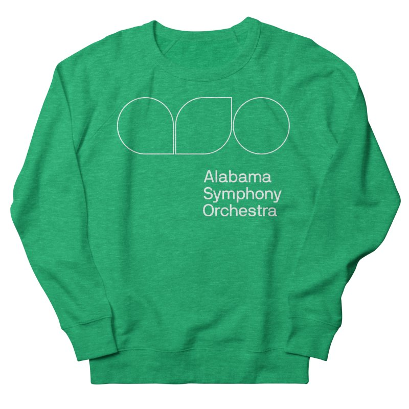 White Outline Women's Sweatshirt by Alabama Symphony Orchestra Goods & Apparel