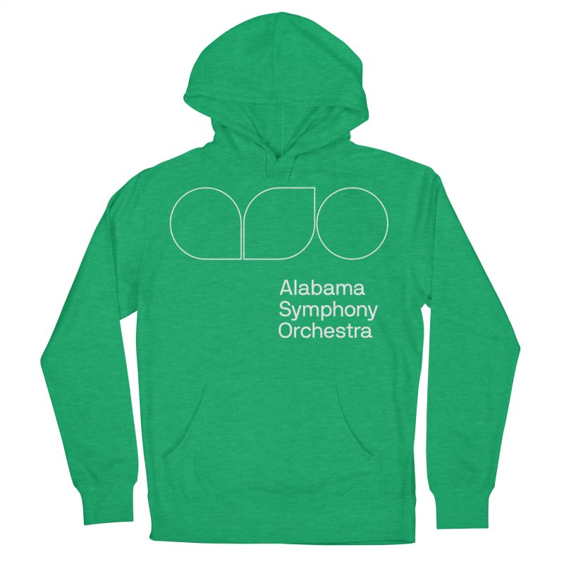 White Outline Women's French Terry Pullover Hoody by Alabama Symphony Orchestra Goods & Apparel