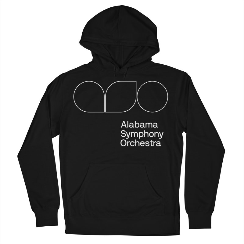 White Outline Women's Pullover Hoody by Alabama Symphony Orchestra Goods & Apparel