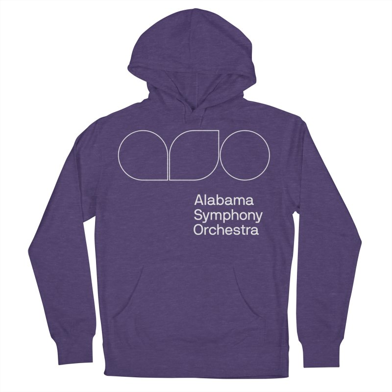 White Outline Men's Pullover Hoody by Alabama Symphony Orchestra Goods & Apparel