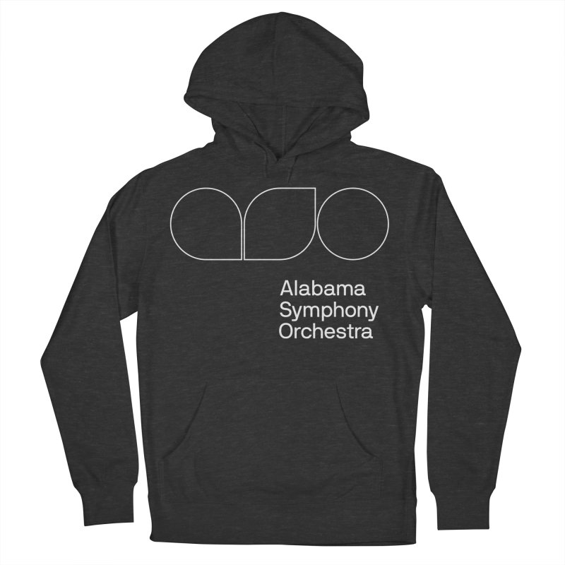 White Outline Men's French Terry Pullover Hoody by Alabama Symphony Orchestra Goods & Apparel