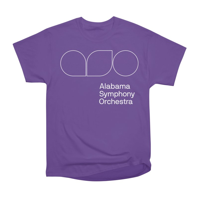 White Outline Women's Classic Unisex T-Shirt by Alabama Symphony Orchestra Goods & Apparel