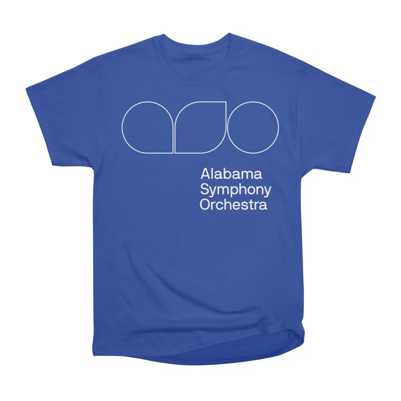 White Outline Men's Heavyweight T-Shirt by Alabama Symphony Orchestra Goods & Apparel