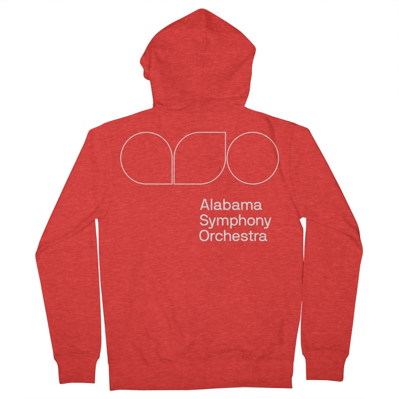 White Outline Women's Zip-Up Hoody by Alabama Symphony Orchestra Goods & Apparel