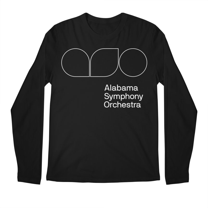 White Outline Men's Regular Longsleeve T-Shirt by Alabama Symphony Orchestra Goods & Apparel