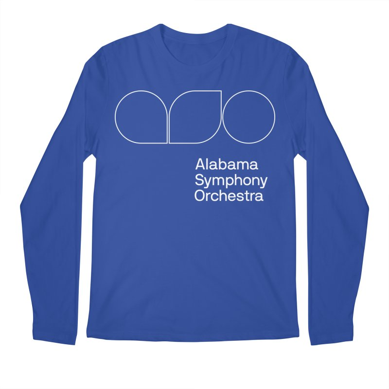 White Outline Men's Longsleeve T-Shirt by Alabama Symphony Orchestra Goods & Apparel
