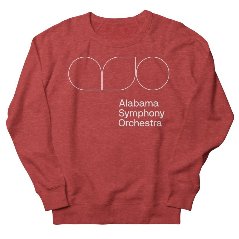 White Outline Women's French Terry Sweatshirt by Alabama Symphony Orchestra Goods & Apparel