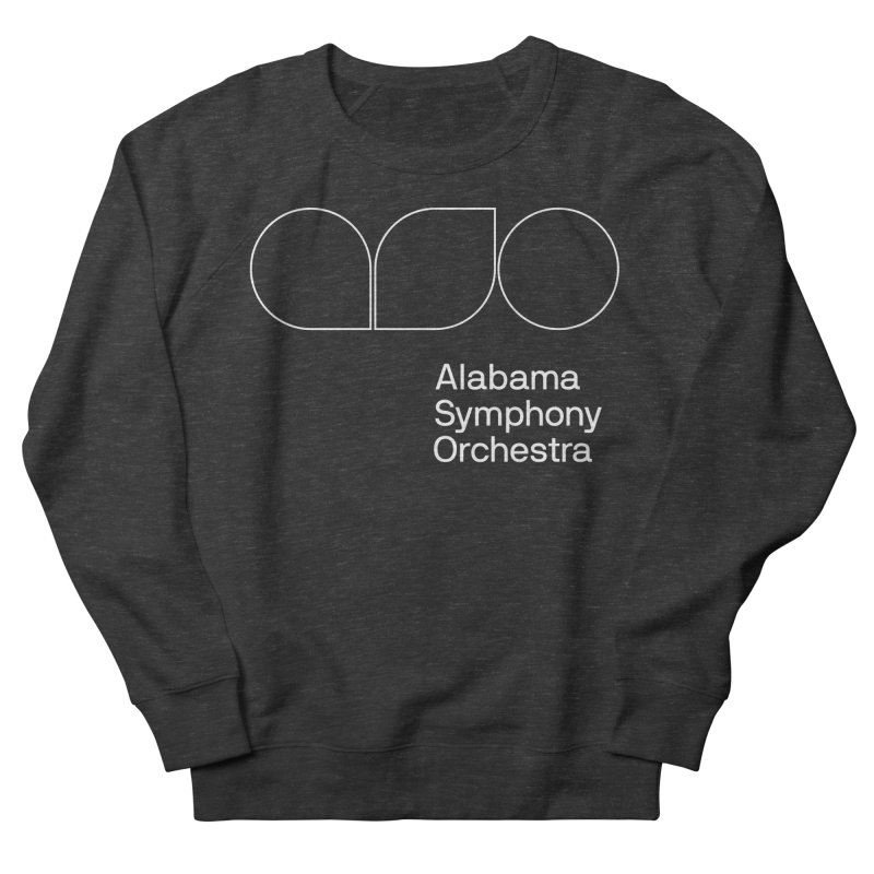 White Outline Men's French Terry Sweatshirt by Alabama Symphony Orchestra Goods & Apparel