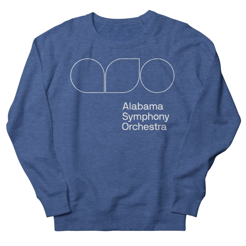 White Outline Men's Sweatshirt by Alabama Symphony Orchestra Goods & Apparel