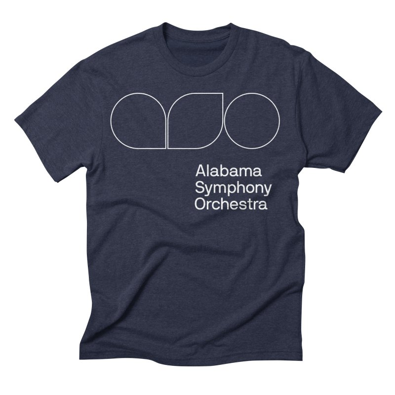 White Outline Men's Triblend T-Shirt by Alabama Symphony Orchestra Goods & Apparel